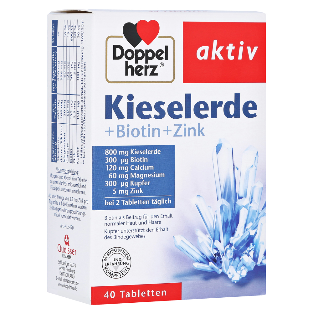 erfahrungen zu doppelherz kieselerde biotin zink tabletten 40 st ck medpex versandapotheke. Black Bedroom Furniture Sets. Home Design Ideas
