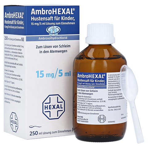 AmbroHEXAL Hustensaft f�r Kinder 15mg/5ml 250 Milliliter N3