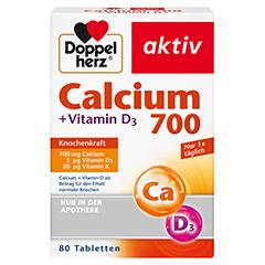 DOPPELHERZ Calcium 700+Vitamin D3 Tabletten 80 Stück