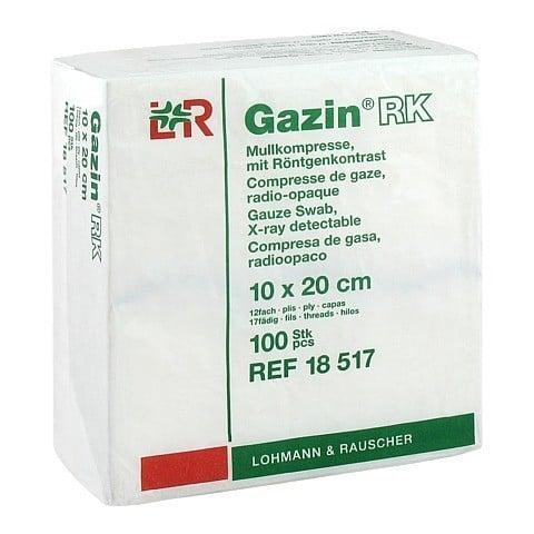 GAZIN Mullkomp.10x20 cm unsteril 12fach RK 100 St�ck