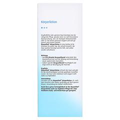 BEPANTHOL Körperlotion Spenderflasche 400 Milliliter - Rückseite
