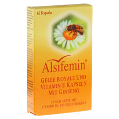 ALSIFEMIN Gelee Royal+Vit.E m.Ginseng Kapseln 60 St�ck