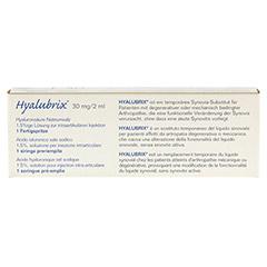 HYALUBRIX Injektionslösung i.e.Fertigspritze 1x2 Milliliter - Rückseite