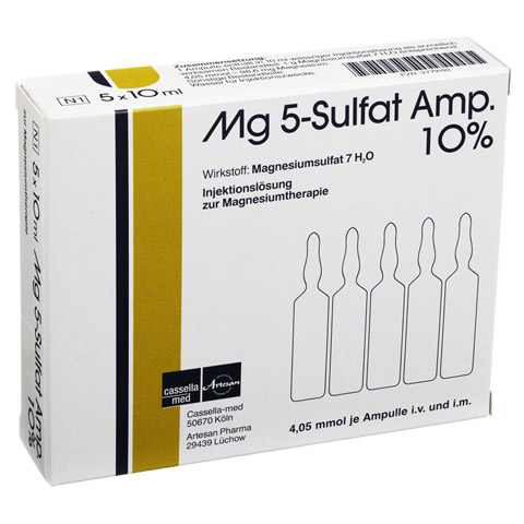 MG 5 Sulfat Amp. 10% Injektionsl�sung 5 St�ck N1