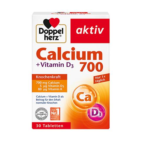 DOPPELHERZ Calcium 700+Vitamin D3 Tabletten 30 St�ck