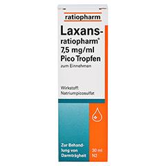 Laxans-ratiopharm 7,5mg/ml Pico 30 Milliliter N2 - Vorderseite
