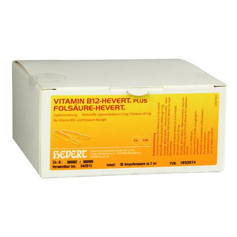 VITAMIN B12 plus Fols�ure Hevert � 2 ml Ampullen 2x50 St�ck