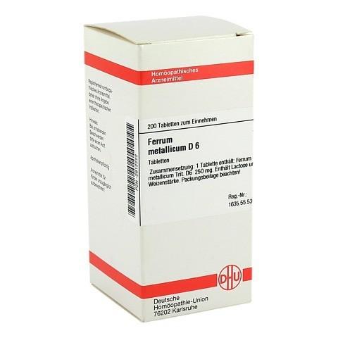 FERRUM METALLICUM D 6 Tabletten 200 Stück N2