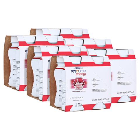 RESOURCE Energy Erdbeer/Himbeer 6x4x200 Milliliter