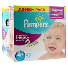 PAMPERS Active Fit Gr.4+ maxi plus 9-20kg Jumbo 62 St�ck