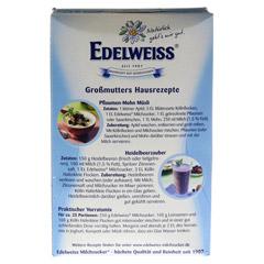 EDELWEISS Milchzucker 500 Gramm - Rückseite