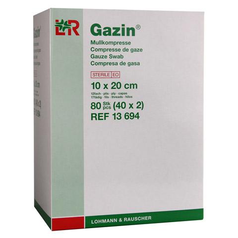 GAZIN Mullkomp.10x20 cm steril 12fach 40x2 Stück