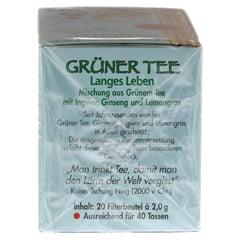 GRÜNER TEE+Ingwer+Ginseng Filterbeutel 20 Stück - Rechte Seite
