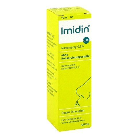 Imidin o.K. Nasenspray 0,1% ohne Konservierungsstoffe 10 Milliliter N1