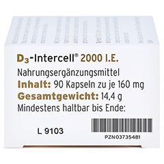 D3-INTERCELL 2.000 I.E. Kapseln 90 Stück - Rechte Seite